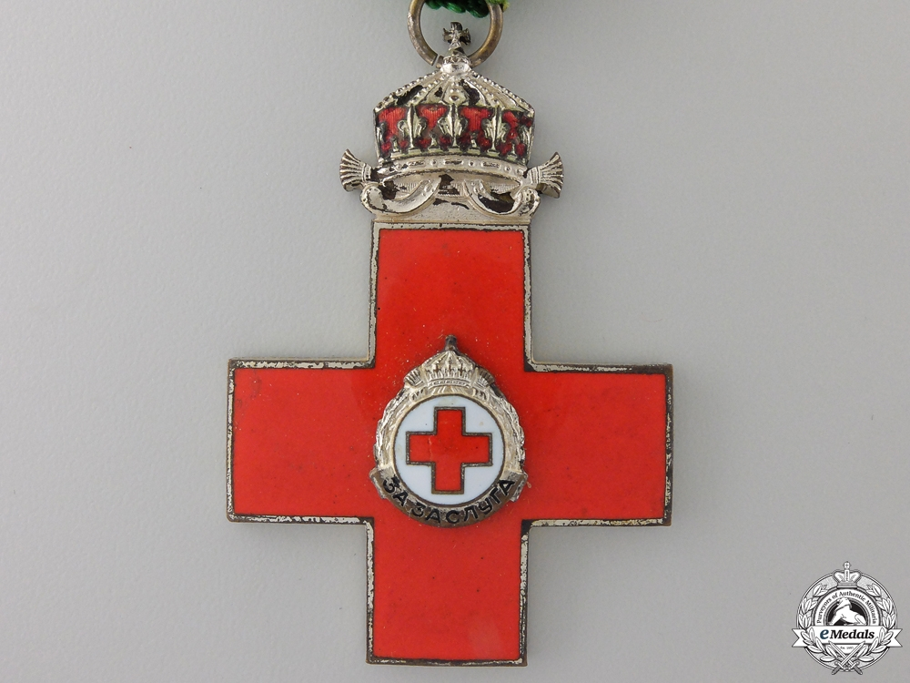 A Bulgarian Red Cross Award of Merit; Second Class