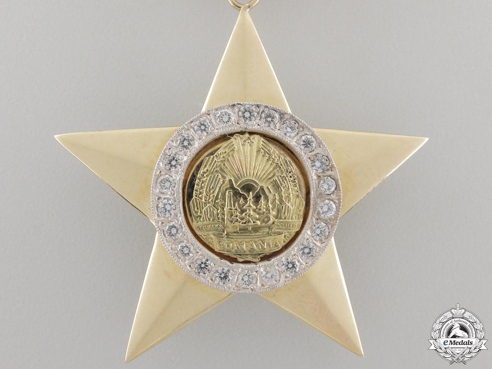 A Hero of the Romanian Socialist Republic in Gold & Diamonds