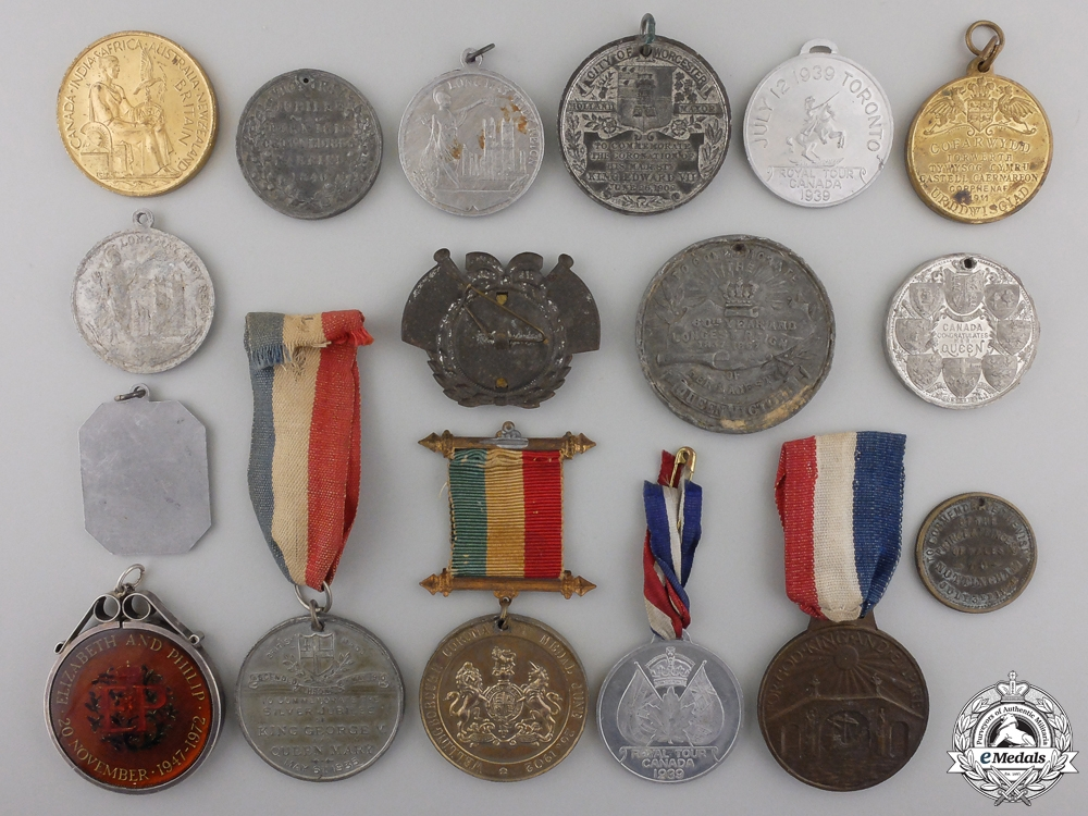 Seventeen Coronation, Jubilee, Investiture, Royal Tour Commemorative Medals