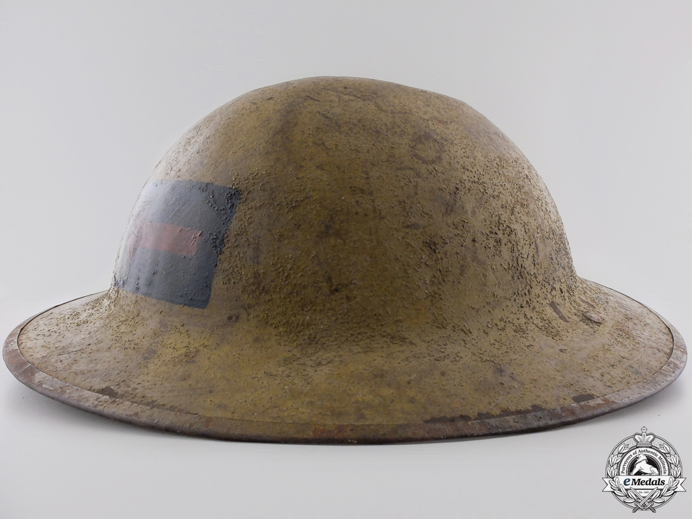 A First War Mark II 2nd Canadian Machine Gun Battalion Helmet  Consignment #4