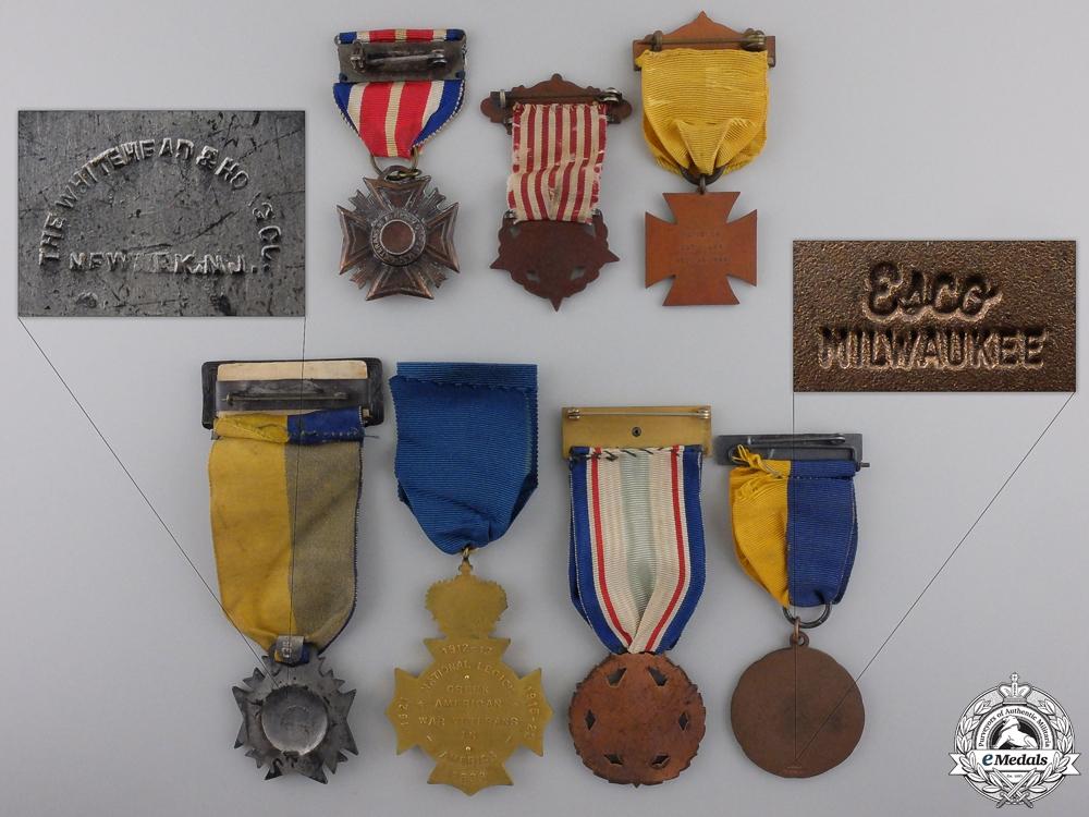 Seven American Veteran's Associations Medals