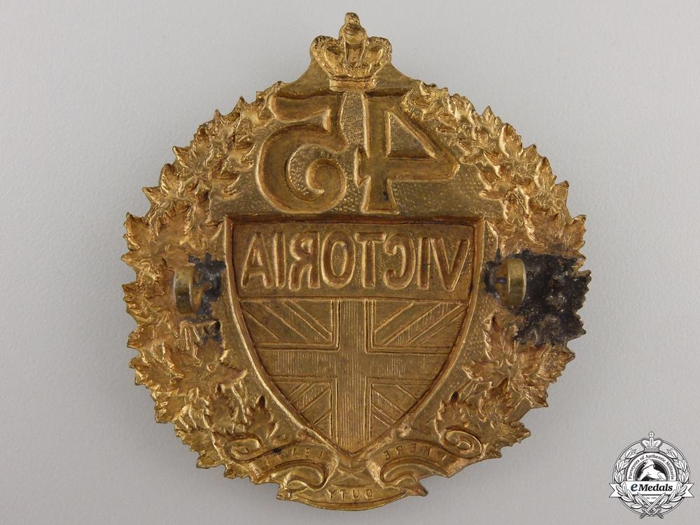 A 1890's 45th Victoria County Militia Regiment Badge