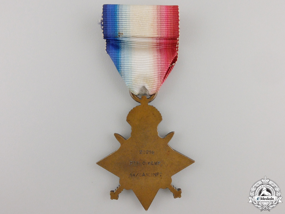 A 1914-15 Star to the 14th Canadian Infantry Battalion