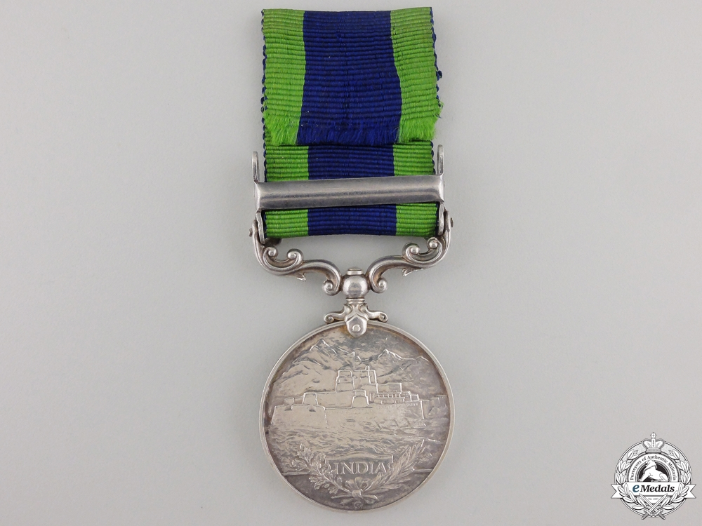 An India General Service Medal to the Worcestershire Regiment