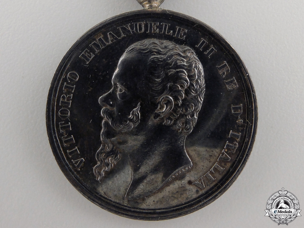 An 1862 Italian Independence Medal with Two Clasps