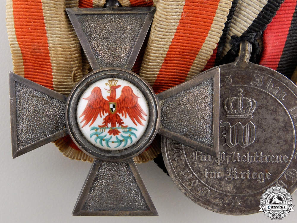 A Franco-Prussian Red Eagle Medal Group
