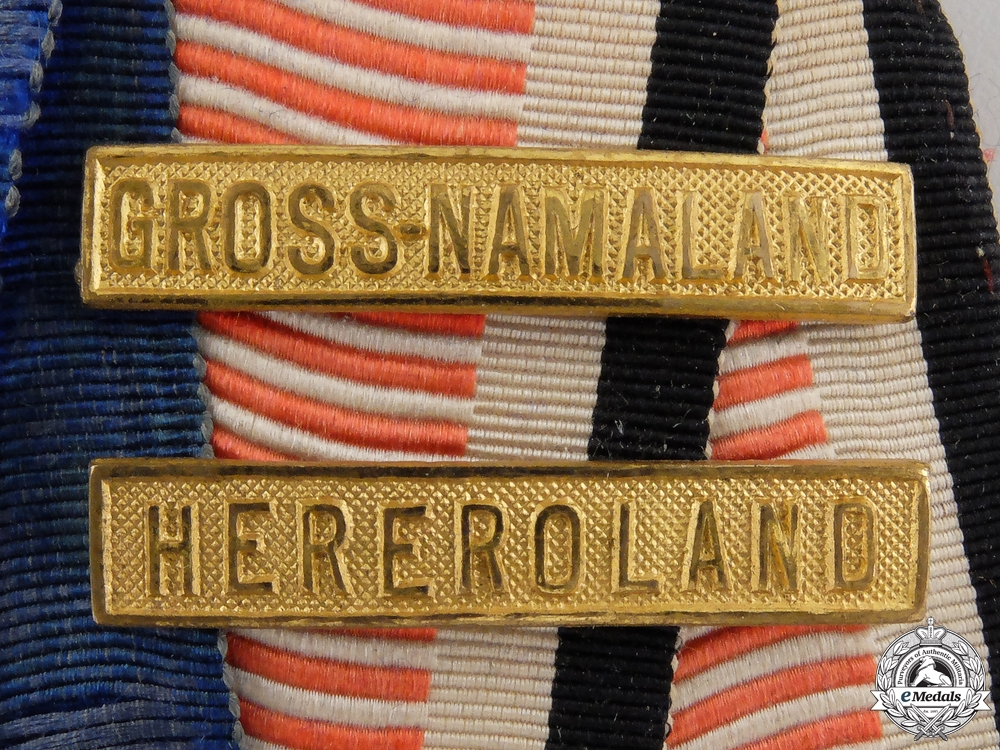 An Imperial German Ribbon Bar with Colonial Clasps