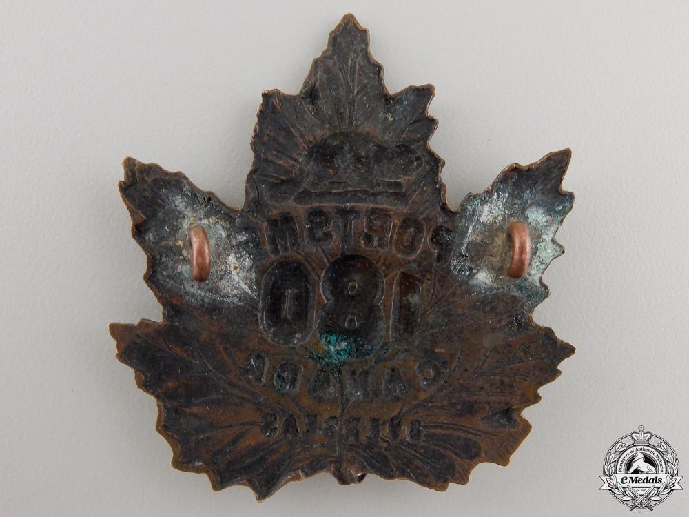A First War 180th Infantry Battalion Cap Badge CEF