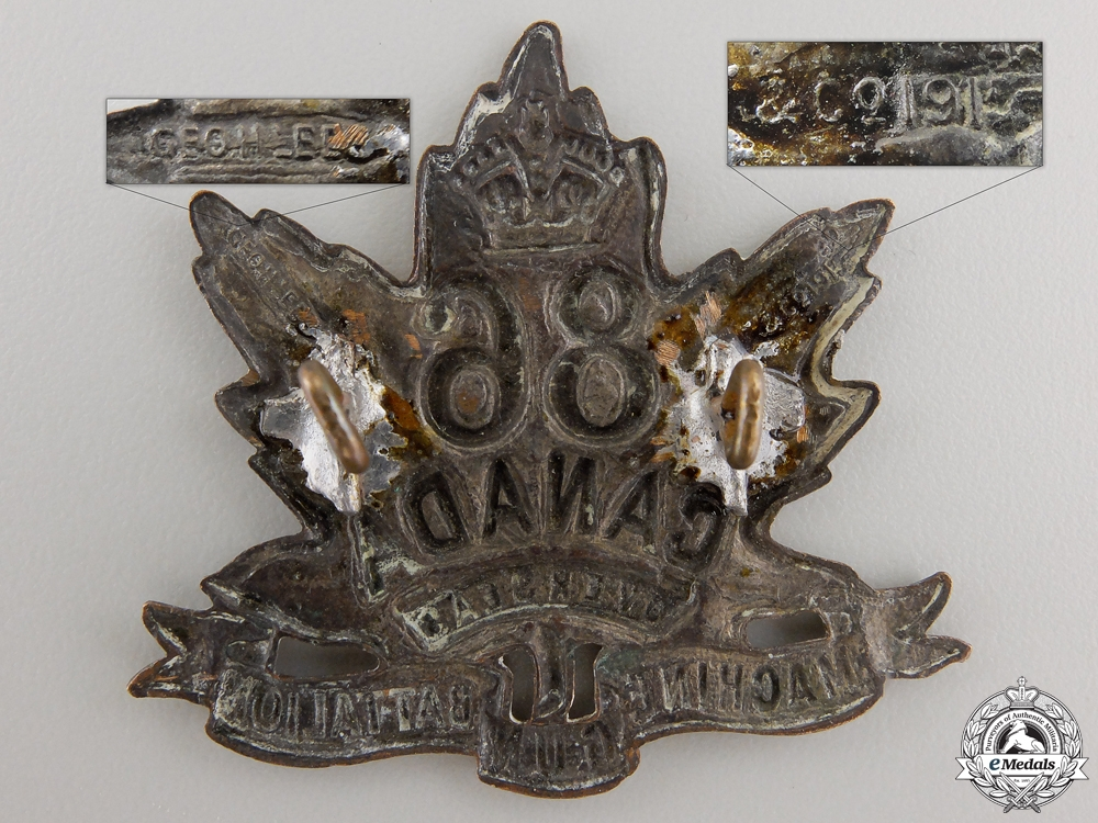 A First War 86th Machine Gun Battalion Cap Badge