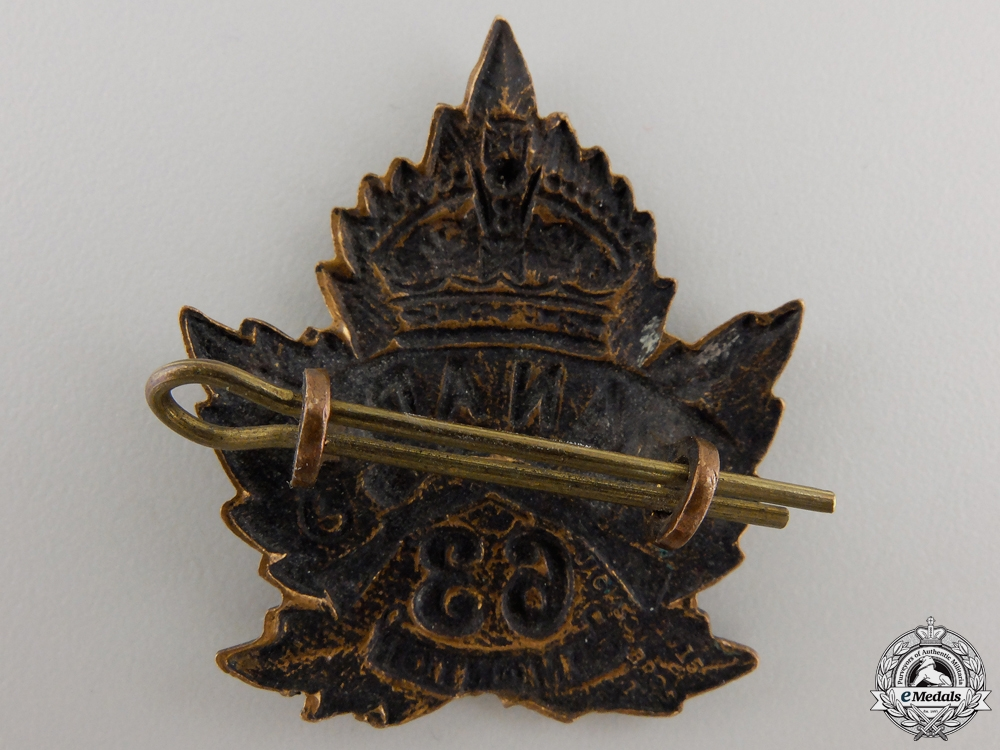 A First War 63rd Canadian Battalion Cap Badge