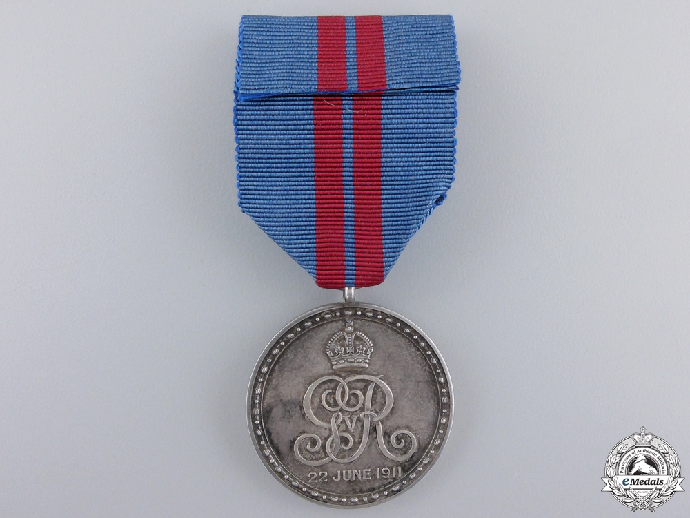 A 1911 King George V and Queen Mary Coronation Medal