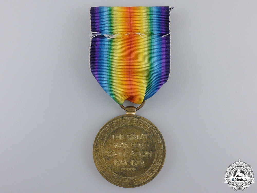 A First War Victory Medal to the 7th Canadian Infantry; KIA