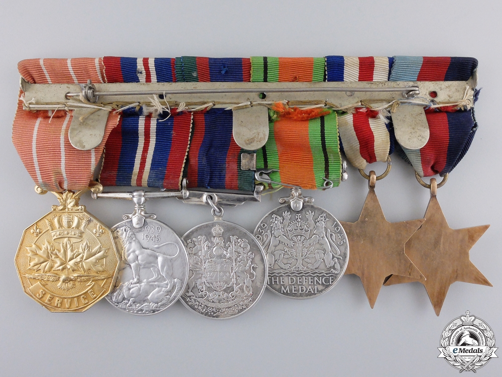 A Second War & Canadian Forces Decoration Group