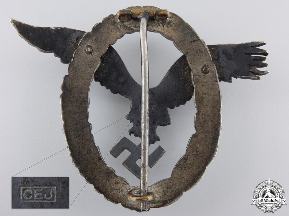 An Early Luftwaffe Pilot's Badge by C.E.Juncker  $2500