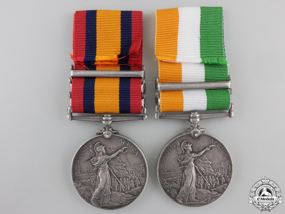 A South Africa Medal Pair to the 7th Dragoon Gaurds  Consign #41