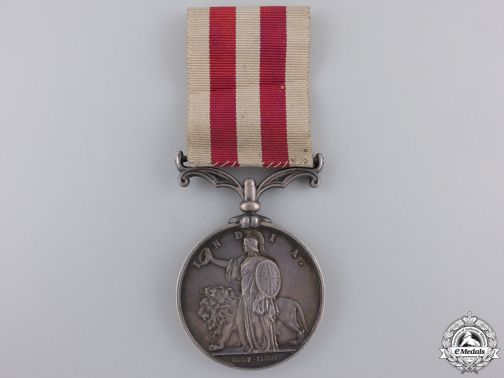 An India Mutiny Medal to the Royal Artillery