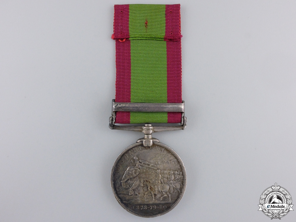 An 1878-82 Afghanistan War Medal to the 72nd Highlanders