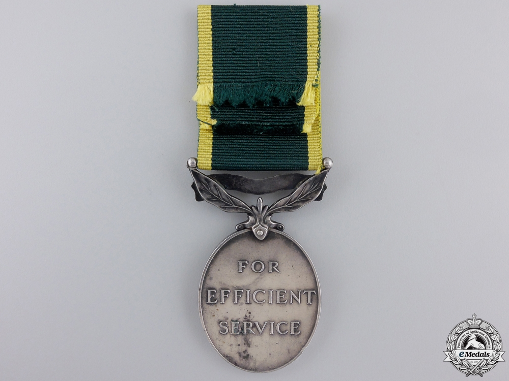 A George V Effeciency Medal to the Kent Regiment
