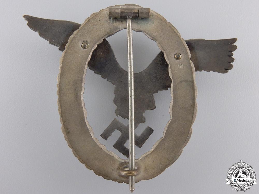 An Early Luftwaffe Pilot's Badge bu C.E.Juncker
