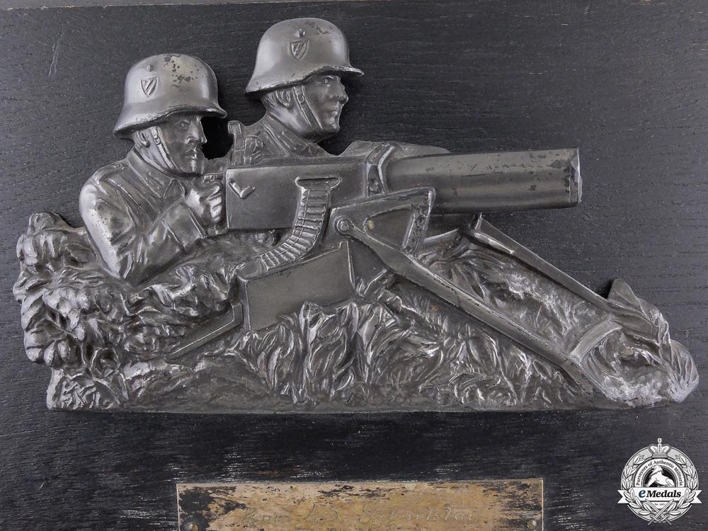 A 1935 German Machine Gunners Plaque