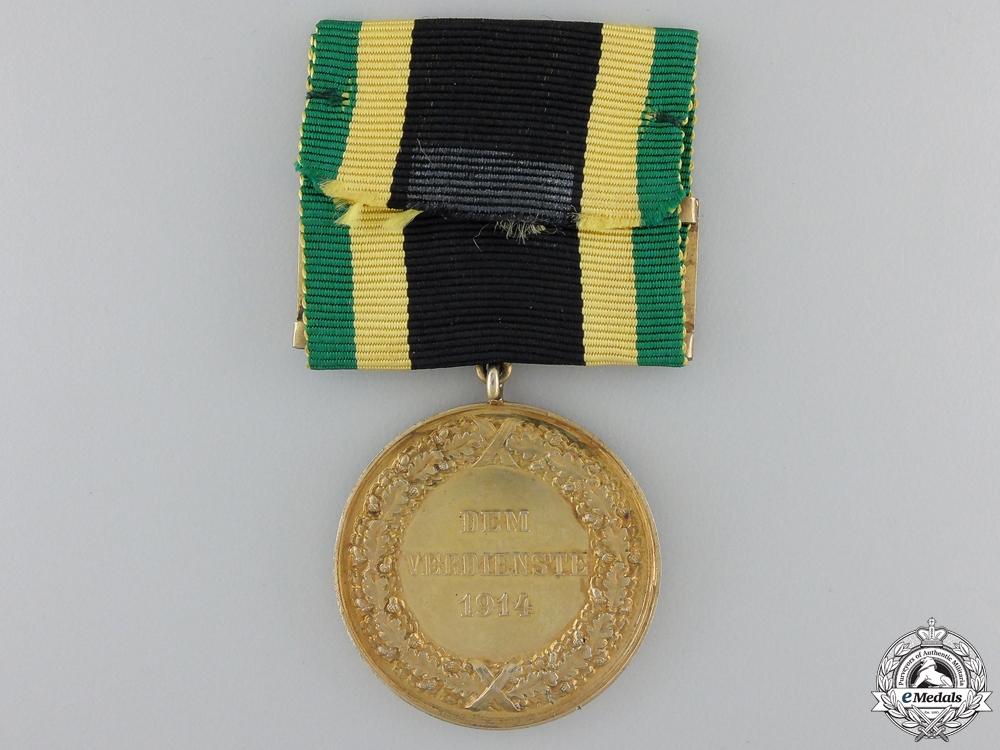 A 1914 Saxe-Weimar General Decoration; Gold Grade