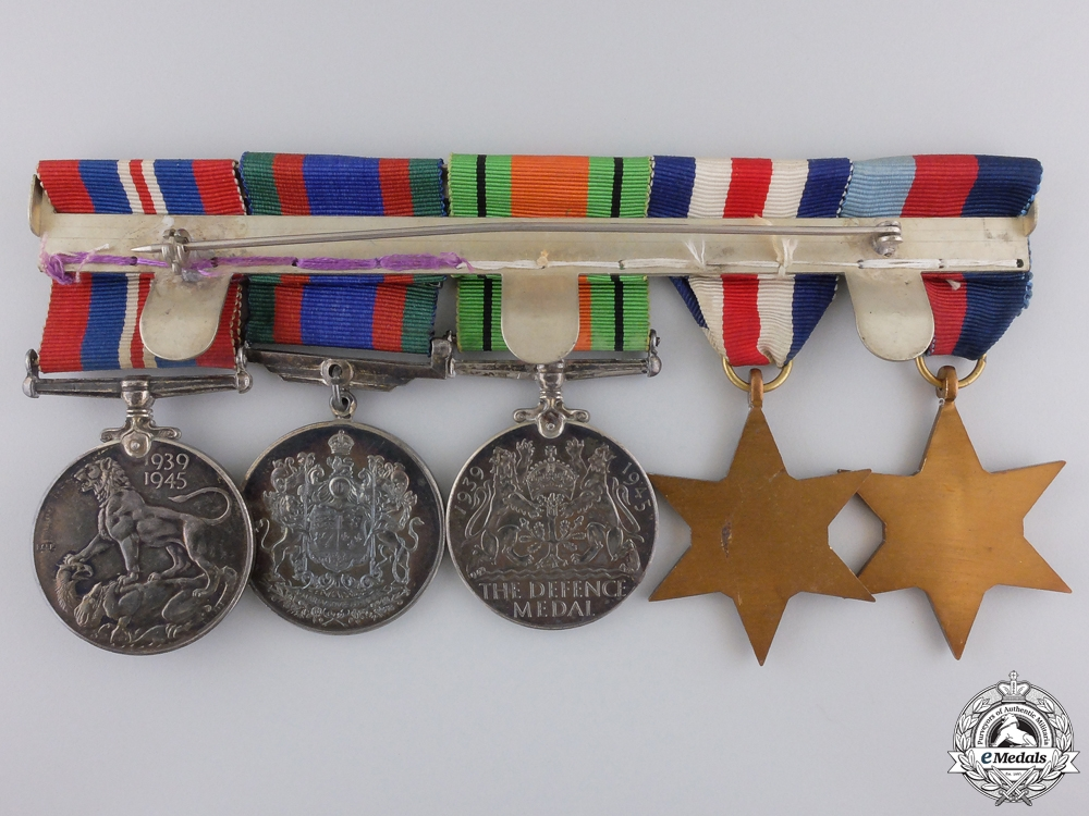 A Second War Canadian North West Europe Medal Bar