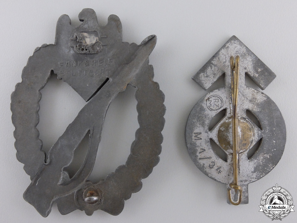 Two Second War German Badges