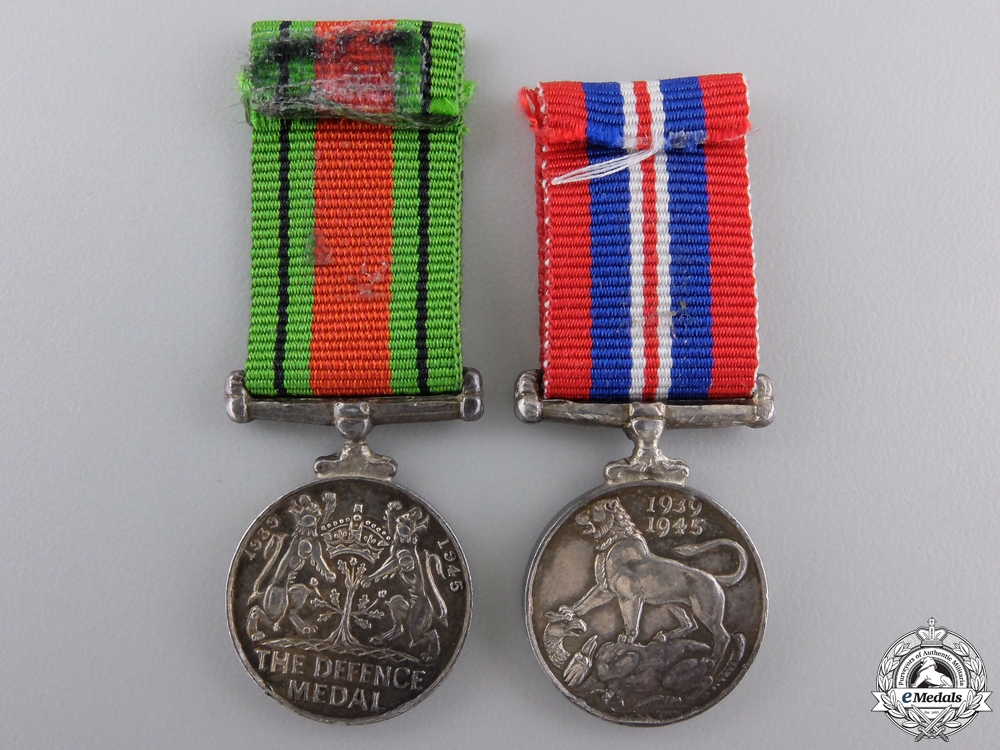 Two Second War Silver Miniatures