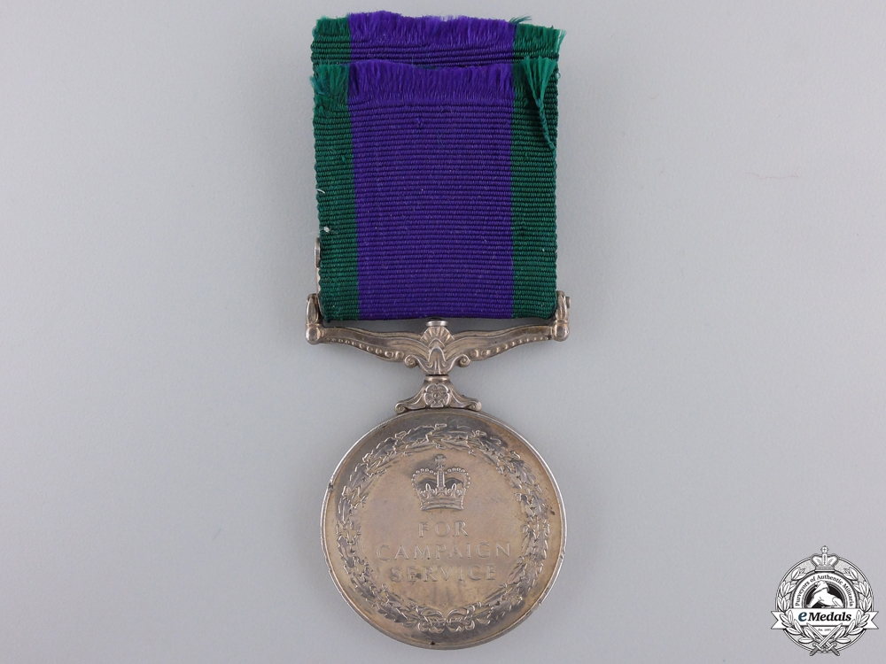 A 1962 Campaign Service Medal to the Queen's Own Buffs
