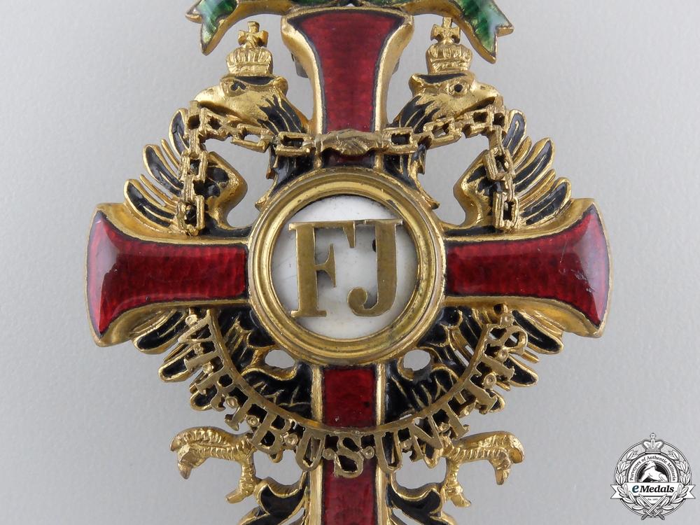 An Austrian Order of Franz Joseph; Officer's Cross by Vinc Mayer