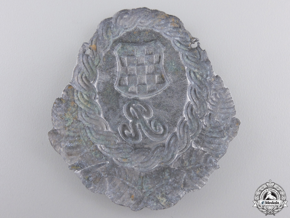 A Second War Croatian Police Guardsmen Cap Badge