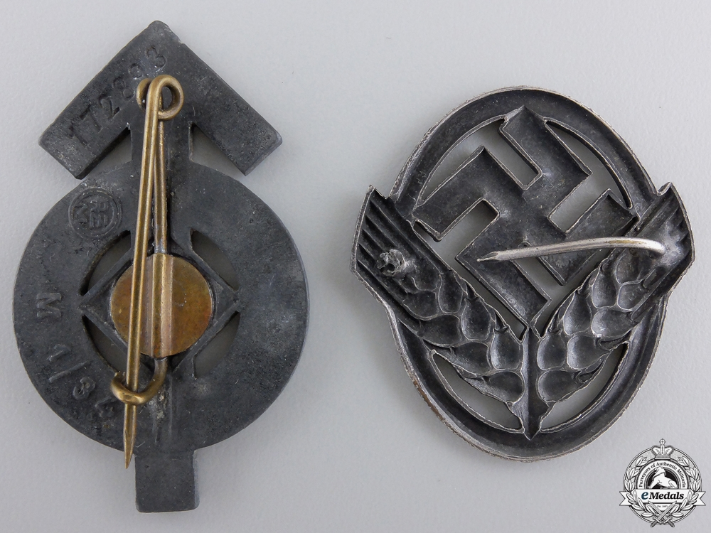 Two Second War German Badges & Insignia