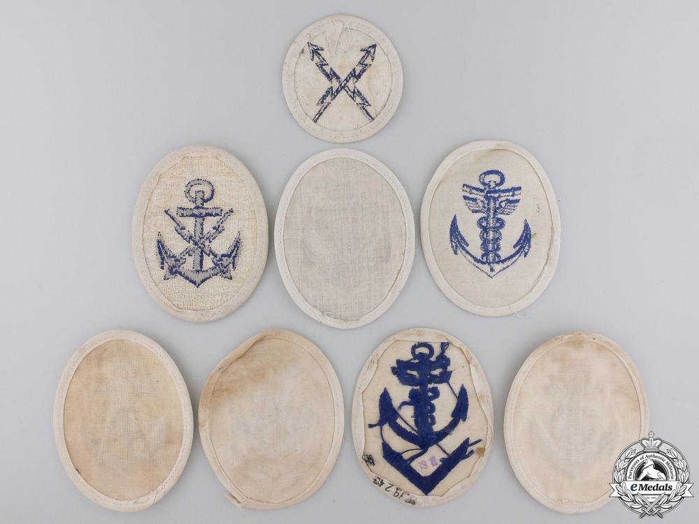 Eight Second War Kriegsmarine Career Sleeve Insignia