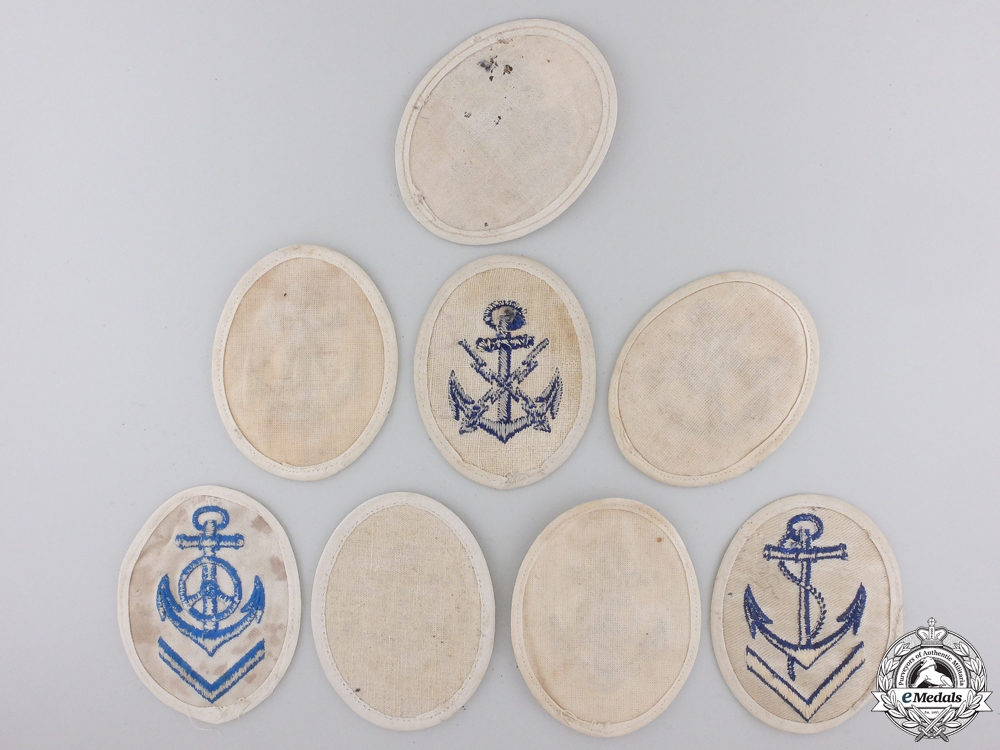 Eight Second War Kriegsmarine Non-Com Officer's Career Sleeve Insignia