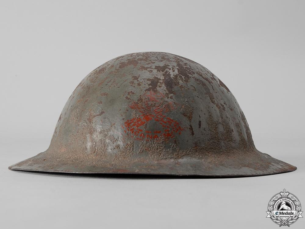 A First War Mark I Motorized Machine Gun Corps Helmet