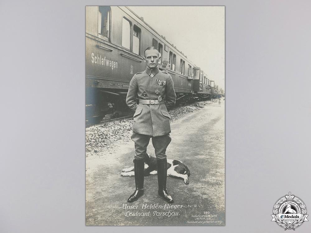 Three First War German Pilot & Pour le Merite Recipient Postcards