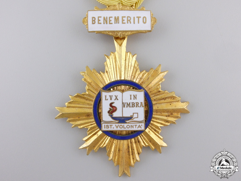 An Italian University of Benemerito 1st. Volonta Star