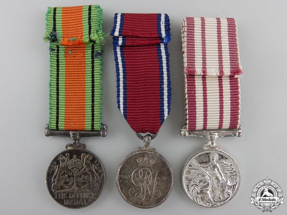 Three British Miniature Medals
