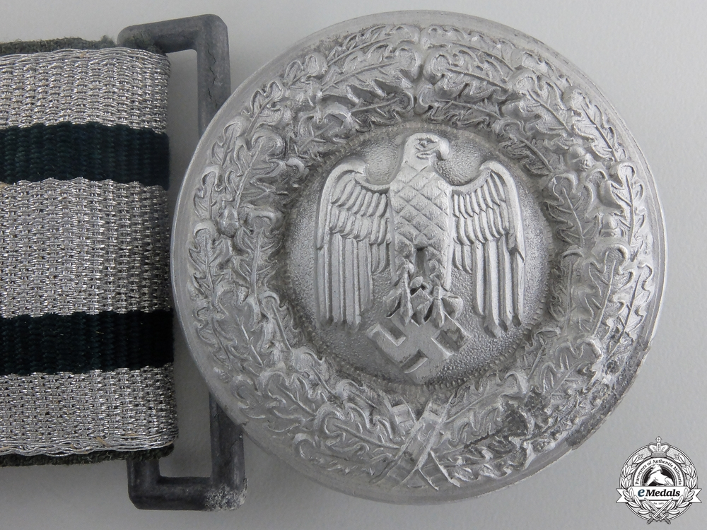 An Army (Heer) Officer's Brocade Belt and Buckle