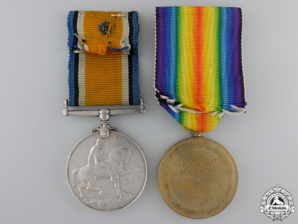 A First War Pair to the 5th Canadian Infantry Battalion