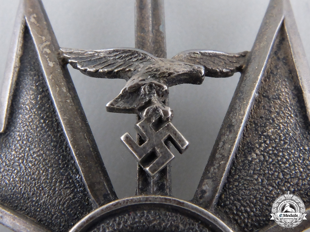 A Spanish Cross in Silver with Swords by Meybauer, Berlin