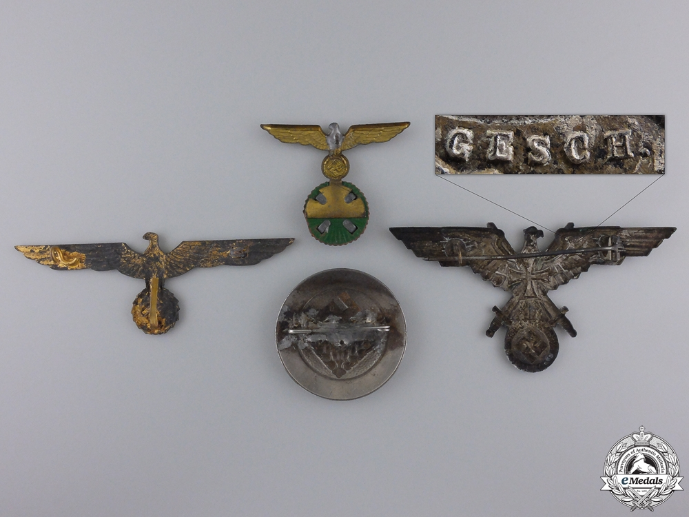 Four Second War German Badges & Insignia