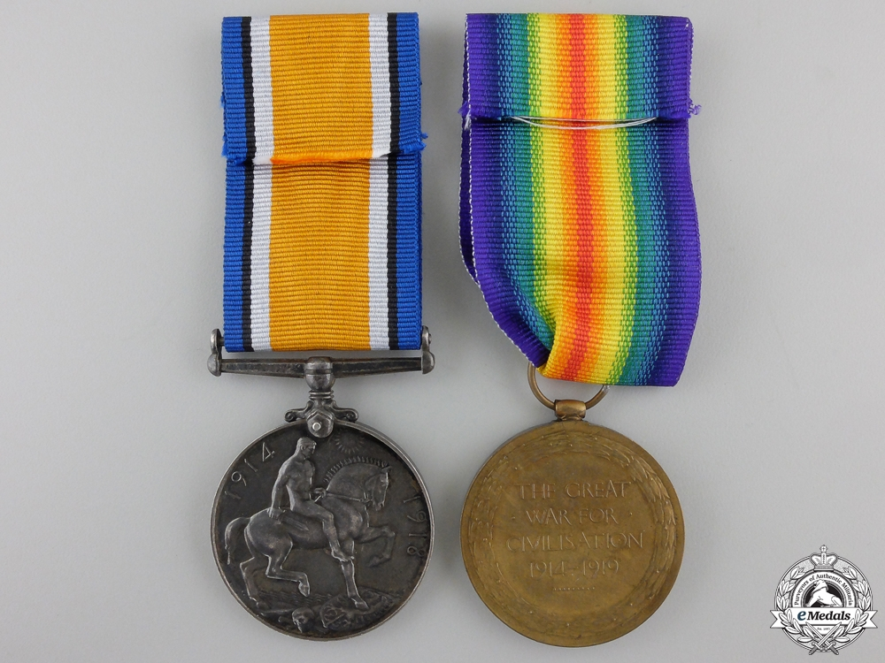 A First War Medal Pair to the 1st Canadian Infantry