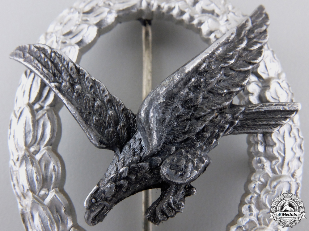 An Air Gunner Badge without Lightning in Aluminum by Assmann