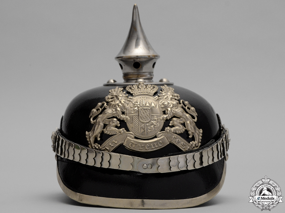 A First War Bavarian Libe Infantry Pioneer Unit Pickelhaube