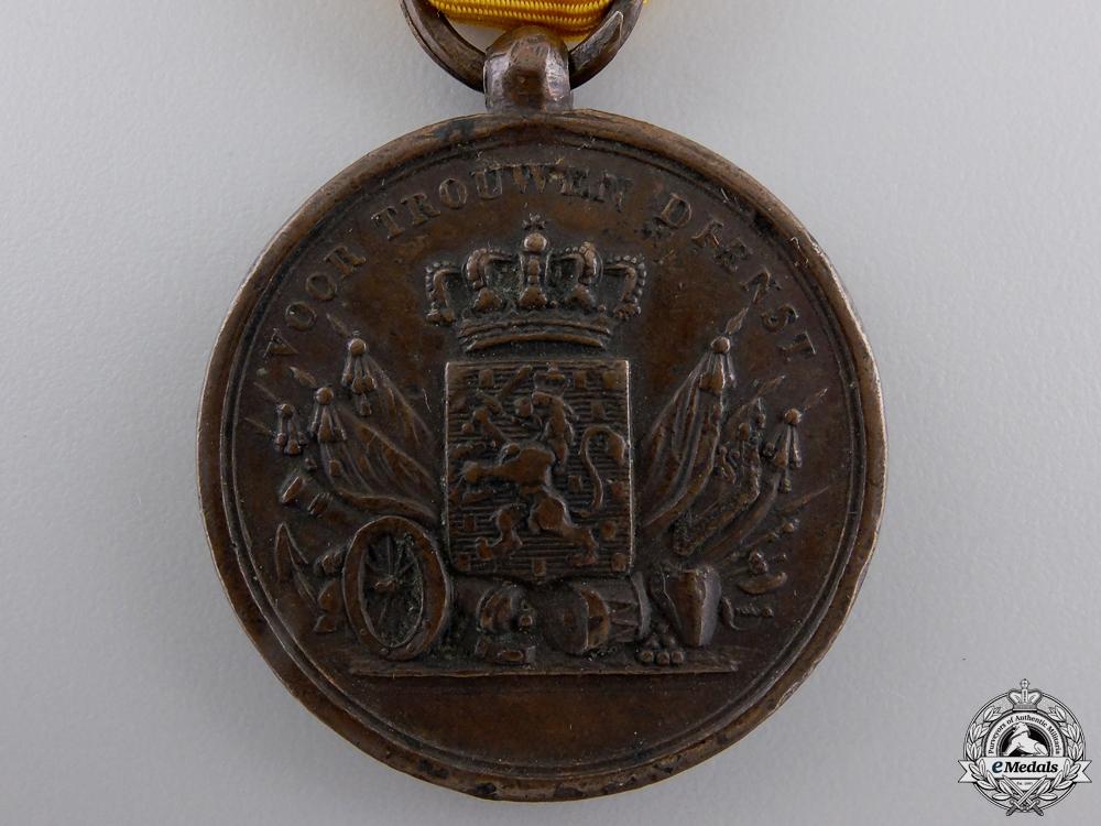 A Pre-1928 Dutch Army Long Service Medal; Bronze Grade