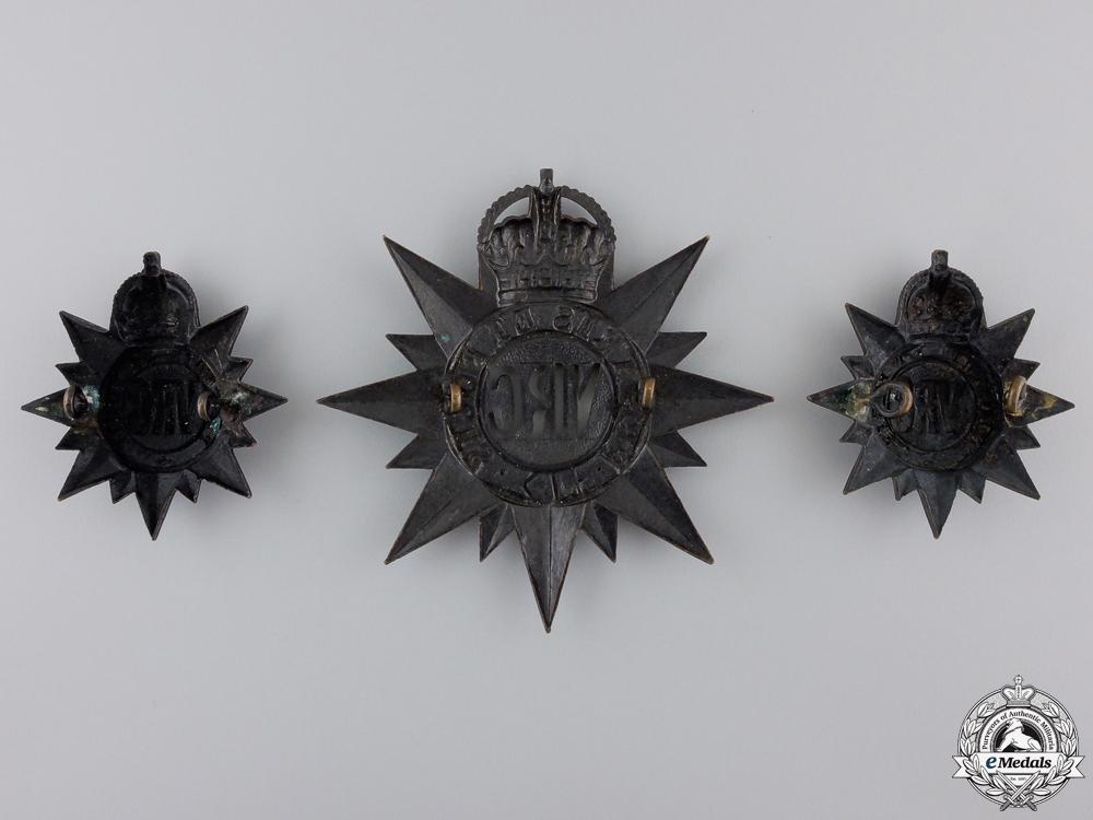 A Set of 3rd Regiment Victoria Rifles of Canada Badges 1904-1920