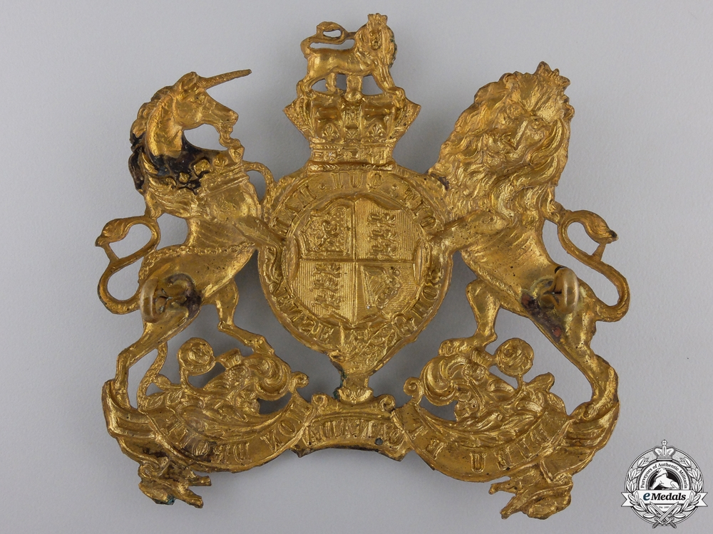 A Royal Canadian Artillery Officer's Rank Helmet Plate