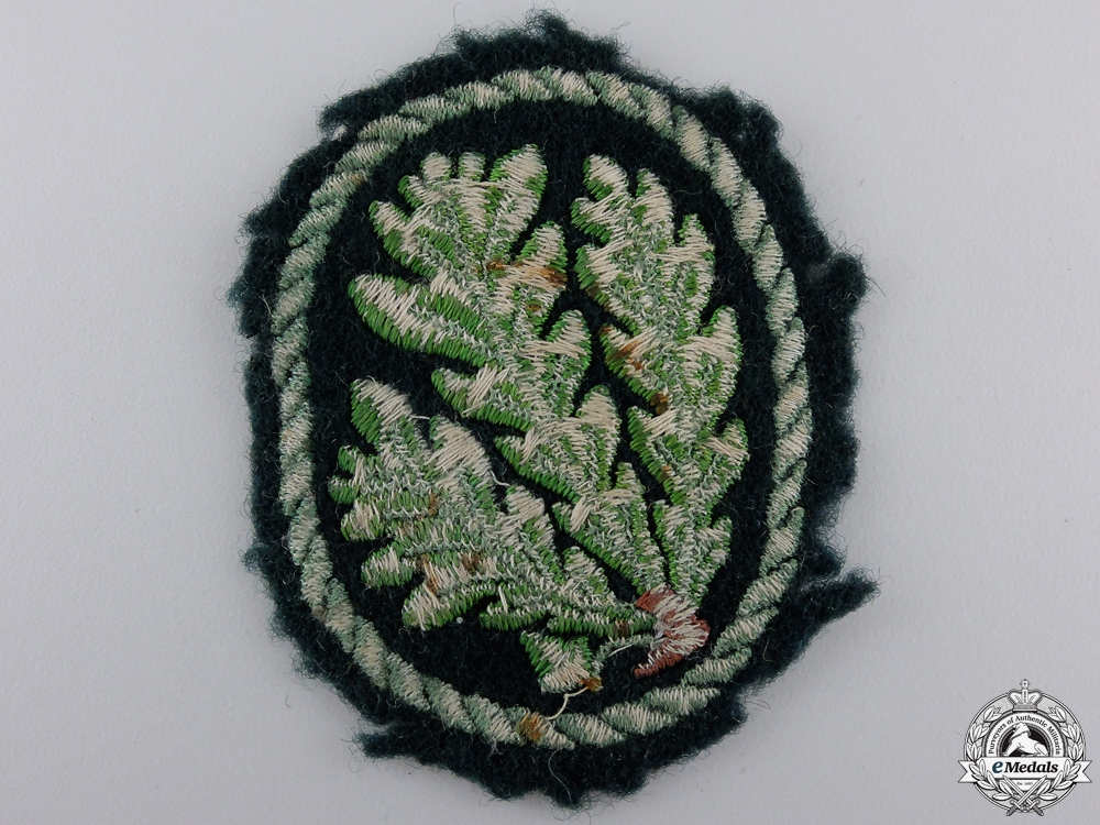 A Uniform Removed German Jager Regiment Cloth Patch