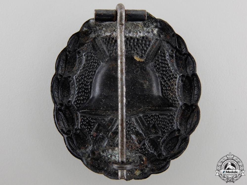 A First War German Wound Badge; Black Grade